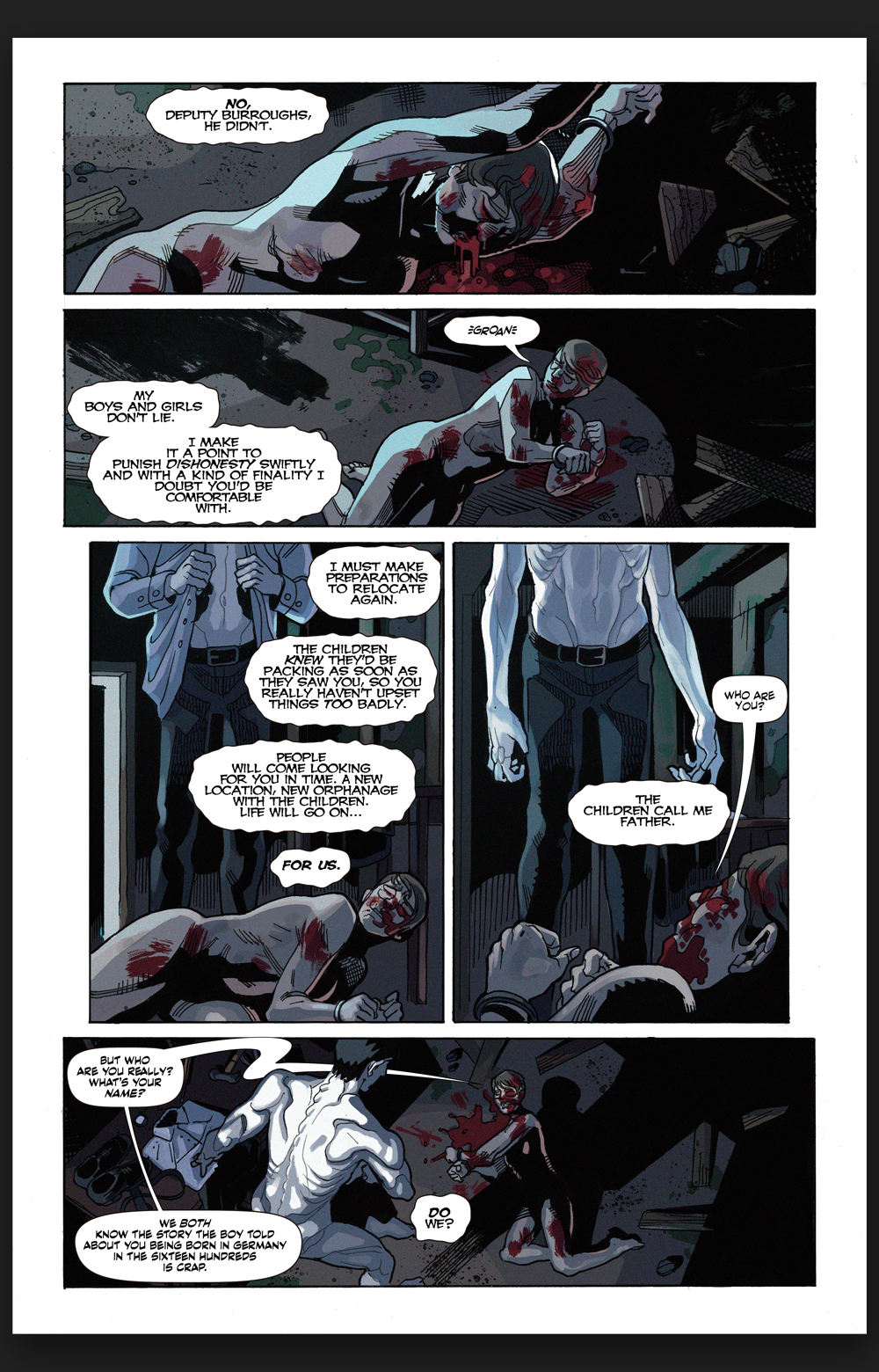 PROJECT PAGE: THE LIVING FEARS - COMIC PAGE 4
